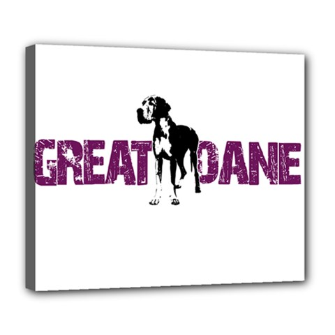 Great Dane Deluxe Canvas 24  X 20   by Valentinaart