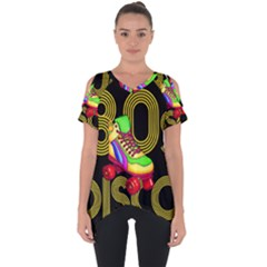 Roller Skater 80s Cut Out Side Drop Tee