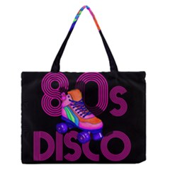 Roller Skater 80s Medium Zipper Tote Bag by Valentinaart