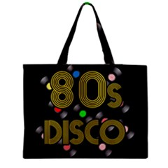 80s Disco Vinyl Records Medium Zipper Tote Bag by Valentinaart