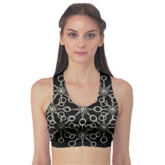 Ornate Chained Atrwork Sports Bra by dflcprints