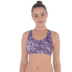 Crumpled Foil 17f Cross String Back Sports Bra by MoreColorsinLife