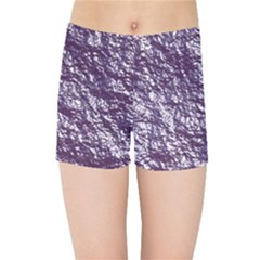 Crumpled Foil 17f Kids Sports Shorts by MoreColorsinLife