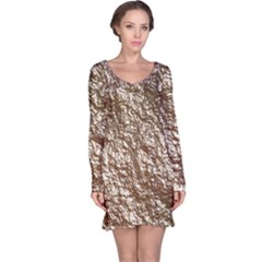 Crumpled Foil 17a Long Sleeve Nightdress by MoreColorsinLife