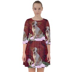 Sweet Little Chihuahua Smock Dress