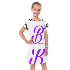 Belicious World  b  Purple Kids  Drop Waist Dress