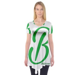 Belicious World  b  In Green Short Sleeve Tunic  by beliciousworld