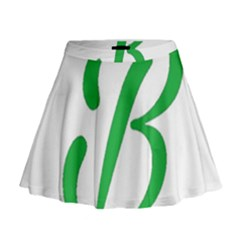 Belicious World  b  In Green Mini Flare Skirt