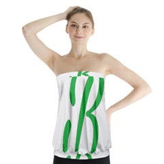 Belicious World  b  In Green Strapless Top by beliciousworld