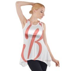 Belicious World  b  In Coral Side Drop Tank Tunic by beliciousworld