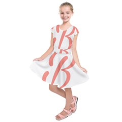 Belicious World  b  In Coral Kids  Short Sleeve Dress by beliciousworld