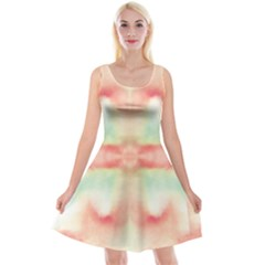 Pink And Mint Abstract Watercolor Reversible Velvet Sleeveless Dress by NorthernWhimsy