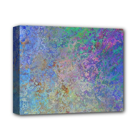 Colorful Pattern Blue And Purple Colormix Deluxe Canvas 14  X 11  by paulaoliveiradesign