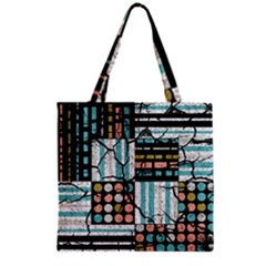 Distressed Pattern Grocery Tote Bag by linceazul