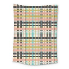 Plaid Pattern Medium Tapestry by linceazul