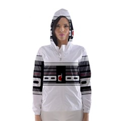 Video Game Controller 80s Hooded Wind Breaker (women) by Valentinaart