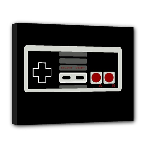 Video Game Controller 80s Deluxe Canvas 20  X 16   by Valentinaart