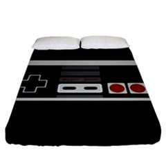 Video Game Controller 80s Fitted Sheet (california King Size) by Valentinaart