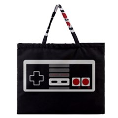 Video Game Controller 80s Zipper Large Tote Bag by Valentinaart