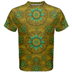 Sunshine And Flowers In Life Pop Art Men s Cotton Tee by pepitasart