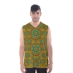 Sunshine And Flowers In Life Pop Art Men s Basketball Tank Top by pepitasart