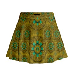 Sunshine And Flowers In Life Pop Art Mini Flare Skirt