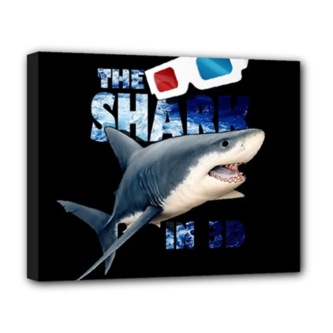 The Shark Movie Deluxe Canvas 20  X 16   by Valentinaart