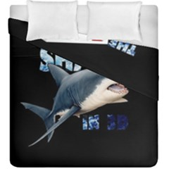 The Shark Movie Duvet Cover Double Side (king Size) by Valentinaart