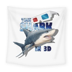 The Shark Movie Square Tapestry (large) by Valentinaart