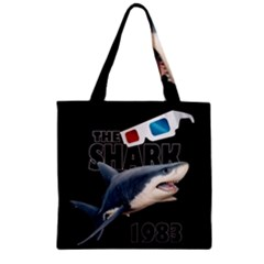 The Shark Movie Zipper Grocery Tote Bag