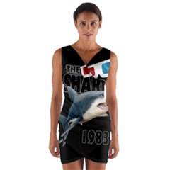The Shark Movie Wrap Front Bodycon Dress by Valentinaart