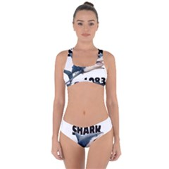 The Shark Movie Criss Cross Bikini Set by Valentinaart