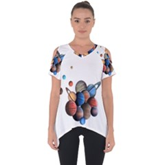 Planets  Cut Out Side Drop Tee