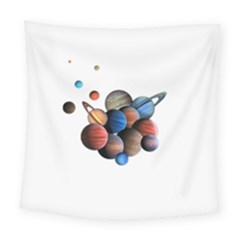 Planets  Square Tapestry (large)