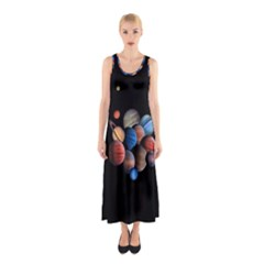 Planets  Sleeveless Maxi Dress