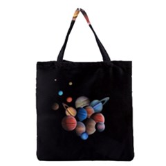 Planets  Grocery Tote Bag by Valentinaart