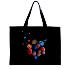Planets  Zipper Mini Tote Bag by Valentinaart