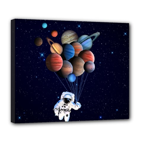 Planets  Deluxe Canvas 24  X 20   by Valentinaart