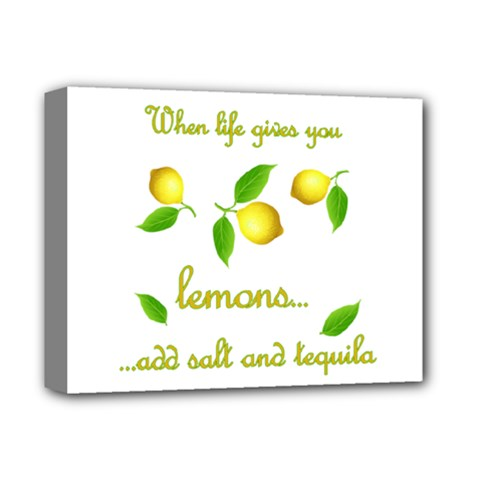 When Life Gives You Lemons Deluxe Canvas 14  X 11  by Valentinaart