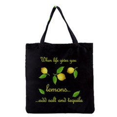 When Life Gives You Lemons Grocery Tote Bag by Valentinaart