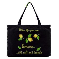 When Life Gives You Lemons Zipper Medium Tote Bag by Valentinaart