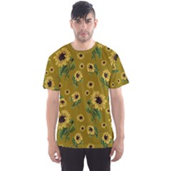 Sunflowers Pattern Men s Sports Mesh Tee