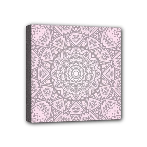 Pink Mandala art  Mini Canvas 4  x 4