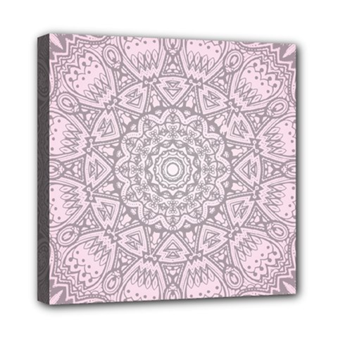 Pink Mandala art  Mini Canvas 8  x 8