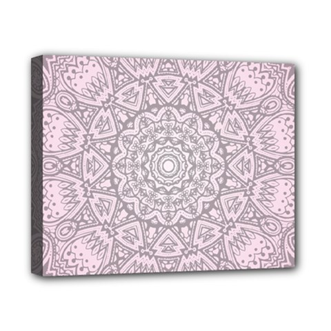 Pink Mandala art  Canvas 10  x 8