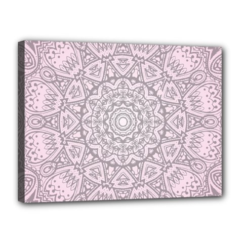 Pink Mandala art  Canvas 16  x 12