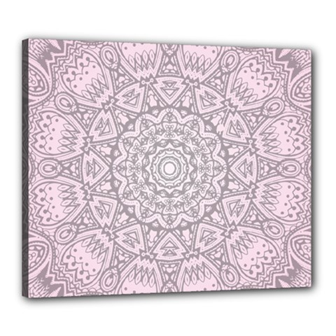 Pink Mandala art  Canvas 24  x 20