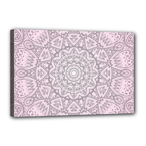 Pink Mandala art  Canvas 18  x 12