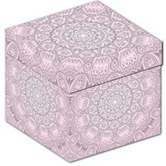 Pink Mandala art  Storage Stool 12