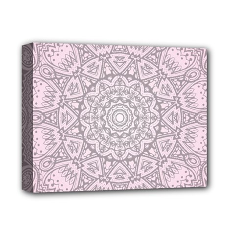 Pink Mandala art  Deluxe Canvas 14  x 11